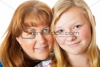 Mom and Daughter Closeup