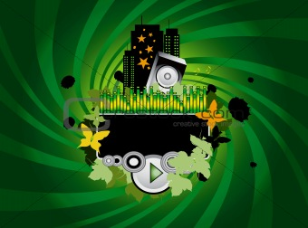 Green Music Background