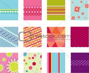 abstract folk pattern