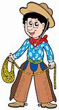 Cartoon cowboy with lasso