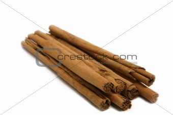 cinnamon bark isolated on white