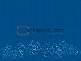 Image 1603312 cog blueprint background from crestock stock photos cog blueprint background malvernweather Images