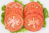 Tomato Slices on Green