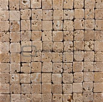 Small Ceramic Stone  Brick Tiled Background