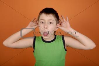 Boy wriggles