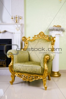 ancient armchair