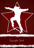 Grunge skateboarder with star