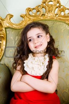 small girl with long hair