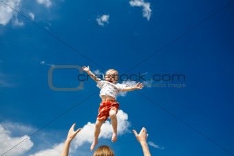 flying child