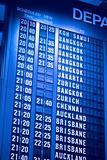 Depature schedule board in asian airport