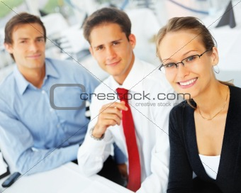 Portrait of business partners in formals smiling