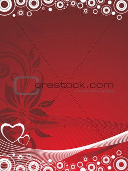 cute valentine's postcard to present your loved, red