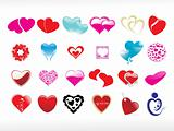 vector illustration of heart icon set5
