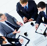 Top view of a business people in a meeting