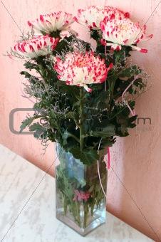 Chrysanthemum flowers bouquet.