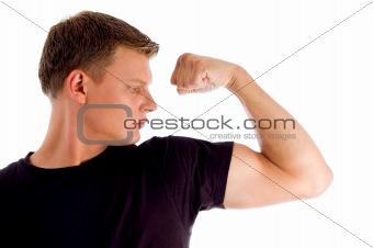posing muscular male