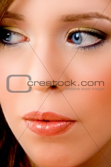 close view of woman's face
