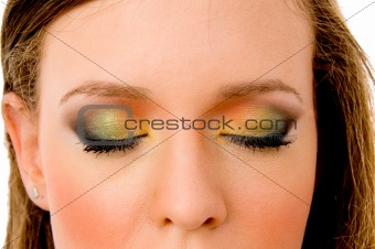 close up of beautiful eyes