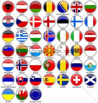european flags shiny