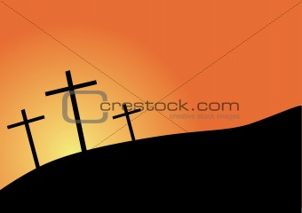 three crosses silhouette easter