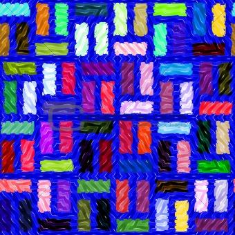 wavy blue tiles pattern