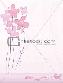Abstract Cherry Blossoms Background