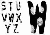 Fingerprint Alphabet Full S to Z (Set 3 of 3)