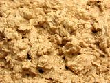 Mixed unbaken chocolate dough in a close-up view