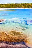 Clear water at shore of Georgian Bay