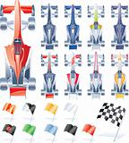 Vector formula cars and flags