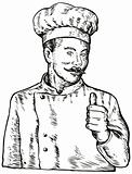 Chef with thumbs up