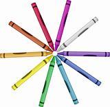 Crayon Color Wheel