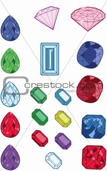 A variety of jewels