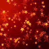 golden red stars background