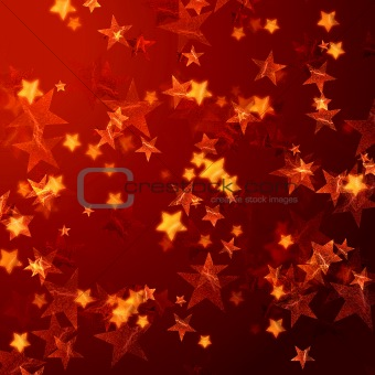 golden red stars background