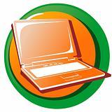 Web Icon Button. Laptop.