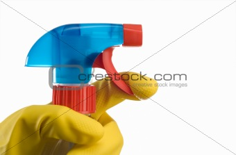 Cleaning bottle and hand