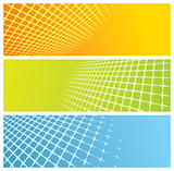 abstract grid banners