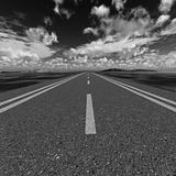 road black and white color