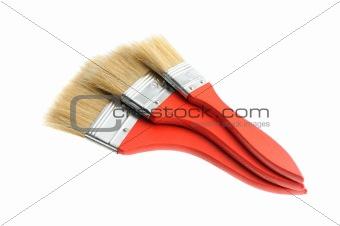 three painting brush