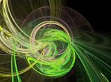 abstract green planet design