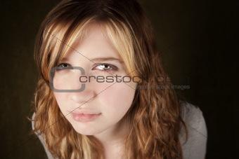 Skeptical Teenage Girl