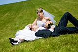 couple on the grass