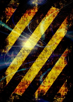 Grunge Hazard Stripes