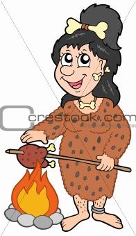 Cartoon prehistoric woman
