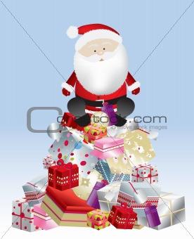 santa present stack day