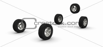 Four new off-road car wheels