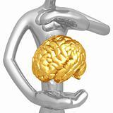 Brain Hovering Between Hands