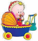 Small child in the pram