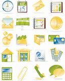 Vector business related icon set